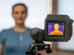 Using thermal imaging to detect elevated body temperature