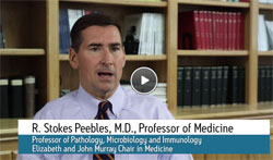 Screenshot of interview with professor R. Stokes Peebles