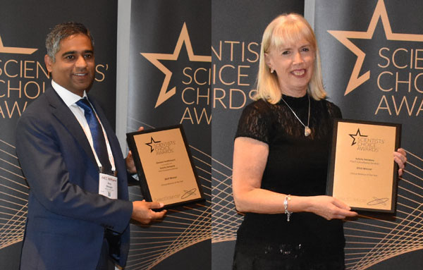 Anuj Dhingra & Felicity Dempsey collect Eobinar of the Year awards