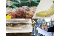 Forensic discrimination of contamination from food wrap plastics