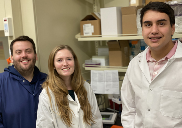 Dr. Ryan Clauson, Rachel Crossley, and Ferris El-tayyeb of Torigen