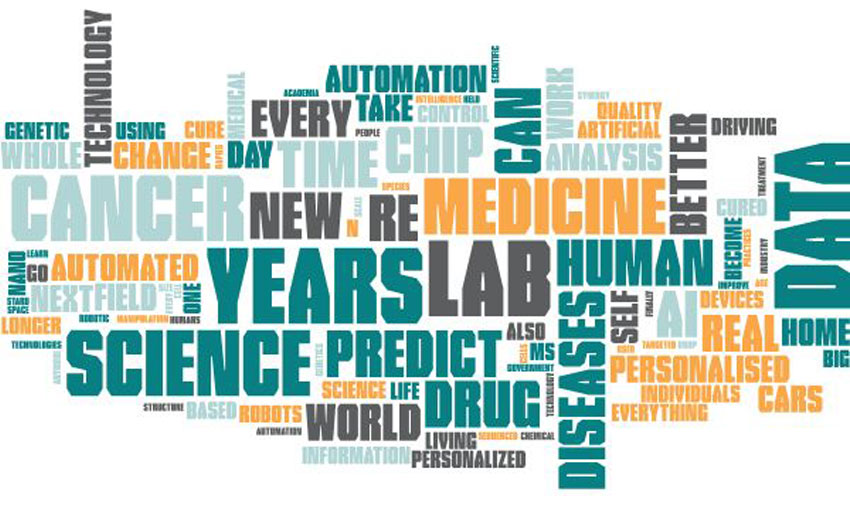 Science prediction word cloud