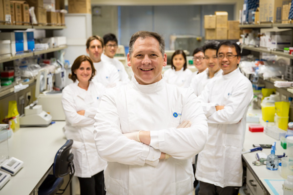 Image of the team of 8 scientists at Tessa Therapeutics