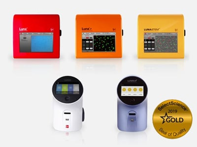 The LUNA™ Family of Automated Cell Counters, which won a Gold Seal of Quality in 2019