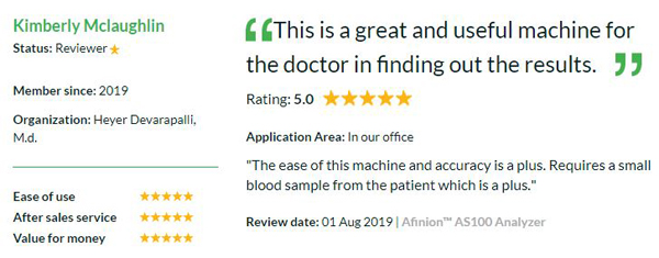 Afinion AS100 Analyzer by Abbott - review for precision medicine special feature