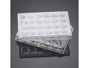 BD BioCoat five insert plates with five 24-well plates and lids