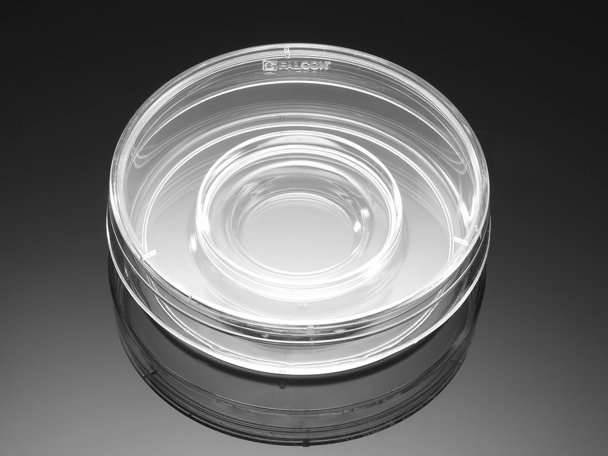 Falcon® 60 mm TC-treated Center Well Organ Culture Dish, 20/Pack, 500/Case, Sterile by Corning Life Sciences thumbnail