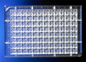 96-well COC Protein Crystallization Microplate with 3:1, 2 µL Conical Flat Bottom Wells, Not Treated, Nonsterile by Corning Life Sciences thumbnail