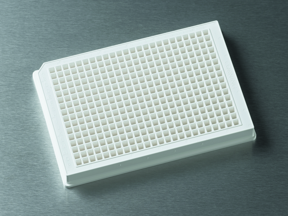 Corning® 384-well Low Flange White Flat Bottom Polystyrene Not Treated Microplate, 10 per Bag, without Lid, Nonsterile by Corning Life Sciences thumbnail