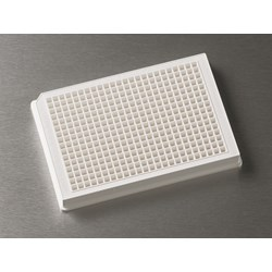 Corning® 384-well Low Flange White Flat Bottom Polystyrene Not Treated Microplate, 10 per Bag, without Lid, Nonsterile by Corning Life Sciences product image