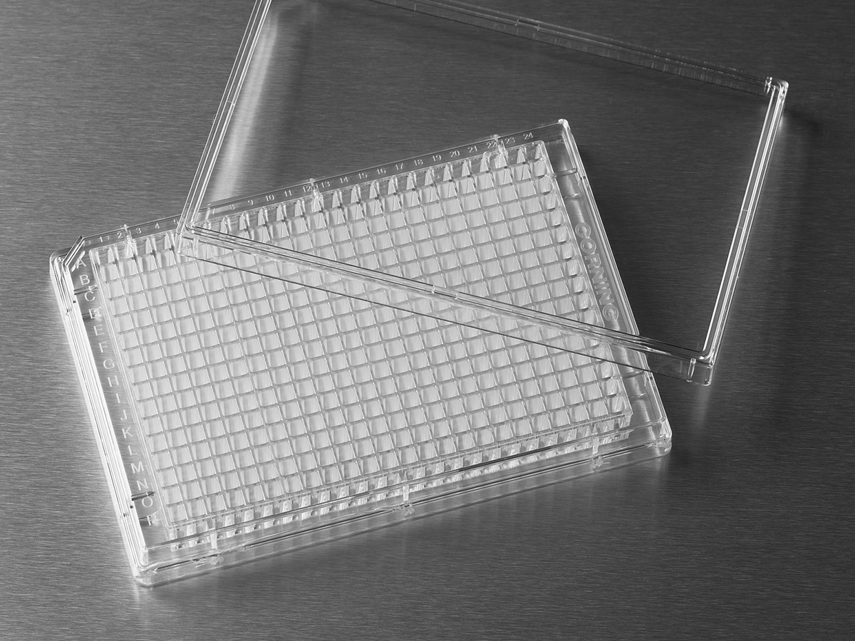 Corning® 384-well Clear Flat Bottom Polystyrene Not Treated Microplate, 20 per Bag, with Lid, Sterile by Corning Life Sciences thumbnail
