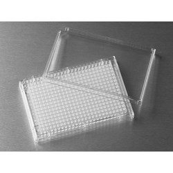 Corning® 384-well Clear Flat Bottom Polystyrene Not Treated Microplate, 20 per Bag, with Lid, Sterile by Corning Life Sciences product image