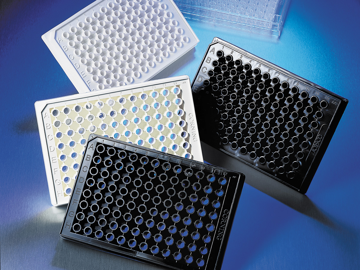 Corning® 96-well Half Area White Flat Bottom Polystyrene Not Treated Microplate, 25 per Bag, without Lid, Nonsterile by Corning Life Sciences thumbnail