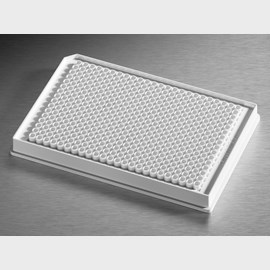 Corning® Low Volume 384-well White Flat Bottom Polystyrene NBS Microplate, 10 per Bag, without Lid, With Generic Bar Code, Nonsterile by Corning Life Sciences product image
