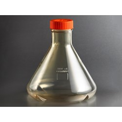 Corning® 3L Baffled Polycarbonate Erlenmeyer (Fernbach Design) Flask with Vent Cap by Corning Life Sciences product image