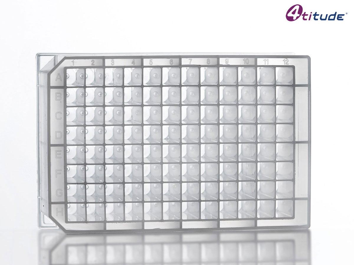 2.2 ml Square 96 Deep Well V-Bottom Storage Plate (Clear) by 4titude Ltd thumbnail