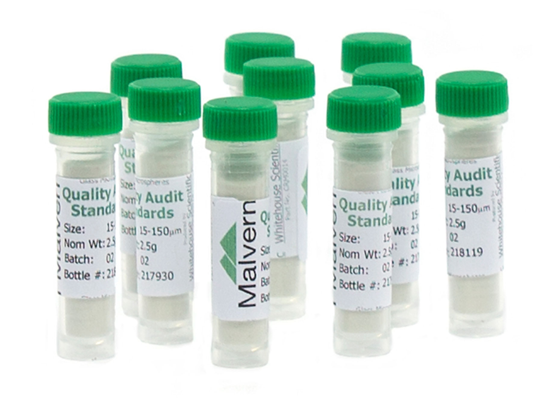 Pack of ten 2.5g single-shot Malvern Quality Audit Standards by Malvern Panalytical thumbnail