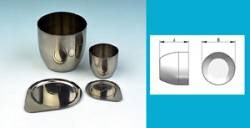 Crucibles, stainless steel