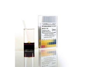 pH indicator strips for turbid solutions