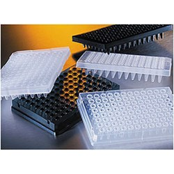 Corning® Thermowell™ GOLD 96 Well Clear Polypropylene PCR Microplate, Half Skirt, Nonsterile, with 2 Generic Bar Code Labels by Corning Life Sciences product image