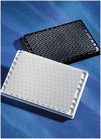 Corning® 1536 Well Black Polystyrene TC-Treated Microplate, 10 per Bag, with Lid, Sterile