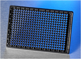 Corning® BioCoat™ Collagen I 384-well Black/Clear Flat Bottom High Content Imaging Microplate, with Lid, 10/Case by Corning Life Sciences thumbnail