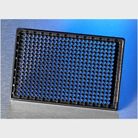 Corning® BioCoat™ Collagen I 384-well Black/Clear Flat Bottom High Content Imaging Microplate, with Lid, 10/Case by Corning Life Sciences product image