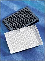 Corning® 384 Well Low Volume White Round Bottom Polystyrene NBS™ Microplate, 10 per Bag, without Lid, Nonsterile by Corning Life Sciences product image