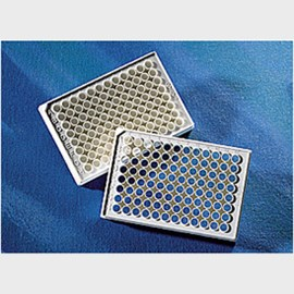 Corning® 96 Well White Round Bottom Polystyrene NBS™ Microplate, 25 per Bag, without Lid, Nonsterile by Corning Life Sciences product image
