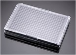Falcon® 384 Well Optilux Black/Clear Flat Bottom, TC-Treated Microtest Microplate, with Lid, Sterile, 5/Pack, 50/Case