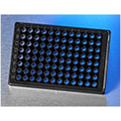 Corning® BioCoat™ Poly-D-Lysine 96 Well Half Area Black/Clear Flat Bottom High Content Imaging Glass Bottom Microplate by Corning Life Sciences product image