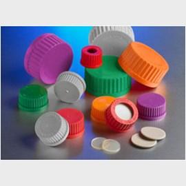 Corning® GL45 Gray Polypropylene Vented Screw Cap with 0 22