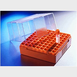 Corning® Polycarbonate 4 - 5mL Cryogenic Vial Storage Box, Holds 81 Vials by Corning Life Sciences product image