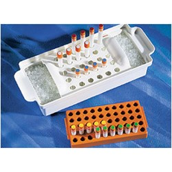 Corning® Polypropylene Cryogenic Vial Rack, Holds 50 Vials by Corning Life Sciences product image