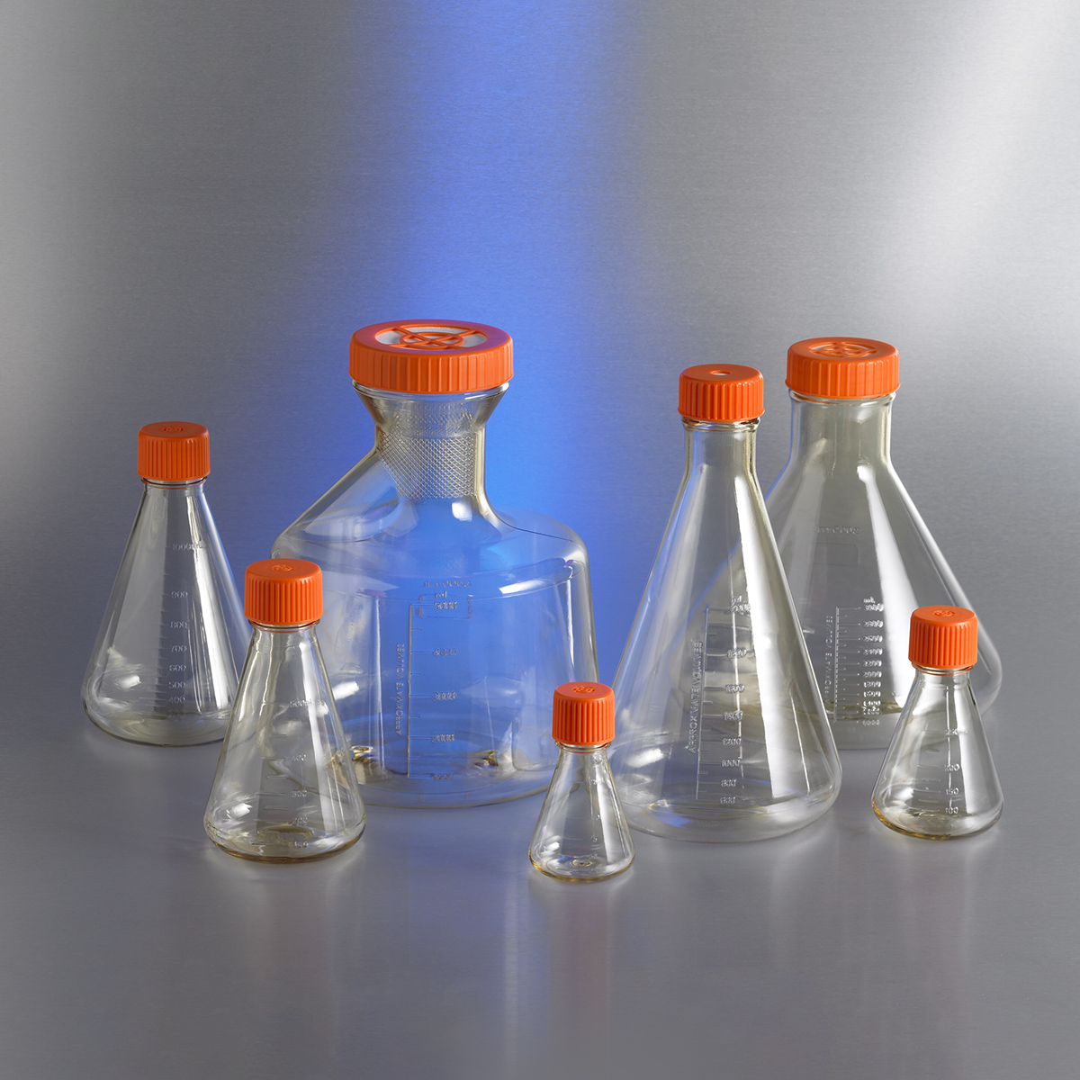 Corning® 1L Polycarbonate Erlenmeyer Flask with Vent Cap by Corning Life Sciences thumbnail
