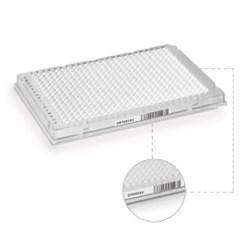 Hard-Shell® 384-Well PCR Plates, thin wall, skirted, clear/white, barcoded by Bio-Rad product image