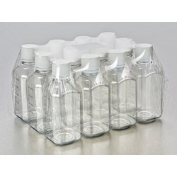 Corning® Gosselin™ Octagonal PET Bottle, 500 mL, Graduated, 31 mm Tamper-evident Cap, Sterile, Assembled, 12/Pack, 120/Case by Corning Life Sciences product image