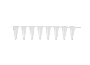 Axygen® 0.1 mL Polypropylene PCR Tube Strips and Caps, 4 Tubes/Strip, 4 Caps/Strip, Clear, Nonsterile by Corning Life Sciences thumbnail