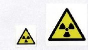 Self Adhesive Radiation Hazard Symbol Labels