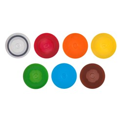Axygen® Microcentrifuge Non-Looped Screw Caps, with O-ring, Clear, Polypropylene, 500 Caps/Pack, 8 Packs/Case by Corning Life Sciences product image