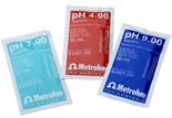 Buffer solutions pH 4.00 / 7.00 / 9.00 in disposable sachets by Metrohm AG product image