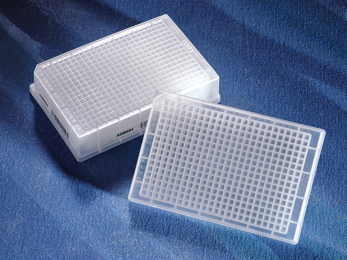 Corning® 384-well Clear Round Bottom Polypropylene Not Treated Deep Well Plate, Square Well, 5 per Bag, Sterile by Corning Life Sciences thumbnail