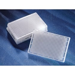 Corning® 384-well Clear Round Bottom Polypropylene Not Treated Deep Well Plate, Square Well, 5 per Bag, Sterile by Corning Life Sciences product image