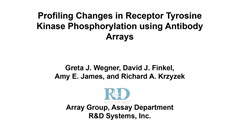 Profiling changes in receptor tyrosine kinase phosphorylation using antibody arrays