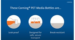 Features of Corning PET Media Bottles