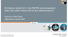 Extended sensitivity for PK/PD and biomarker analysis using nanoliter-scale immunoassays