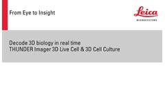 Key advantages of the THUNDER Imager 3D Live Cell & 3D Cell Culture