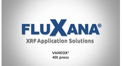 XRF Sample Preparation with the FluXana Electrical VANEOX 40t Press
