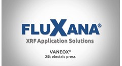 XRF Sample Preparation with the FluXana Electrical VANEOX 25t Press